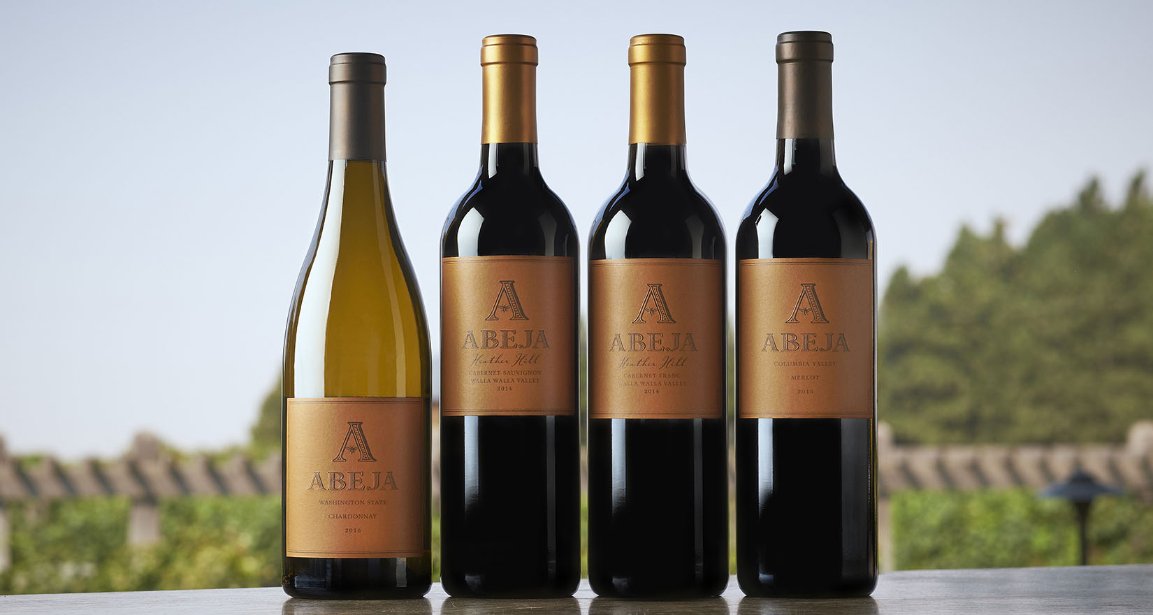 four Abeja wines