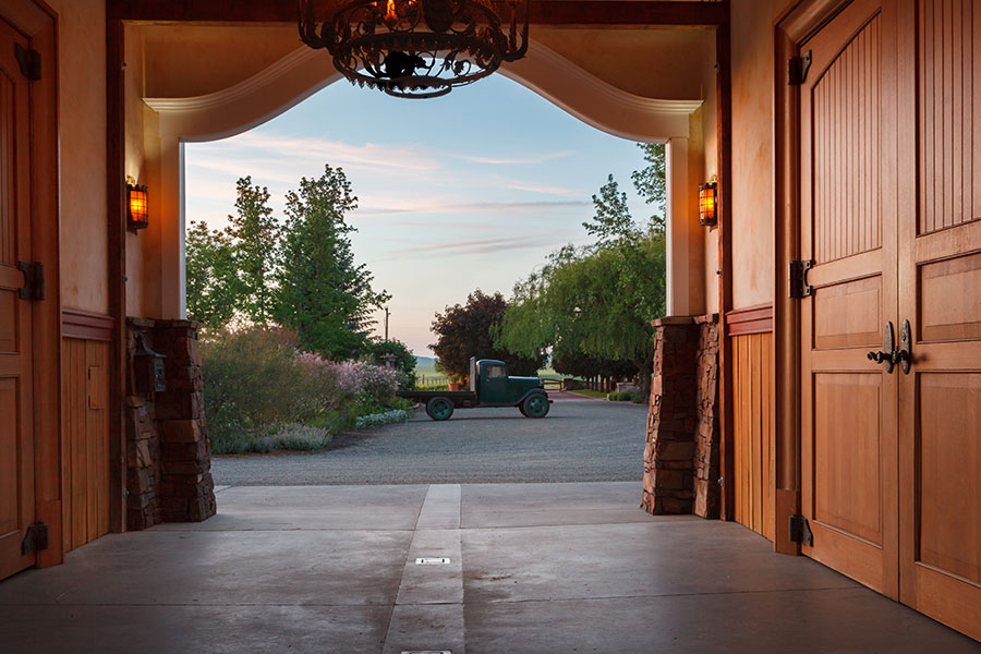 Carriage House foyer at dusk